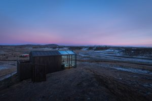 Panorama Glass Lodge in the Morning Light