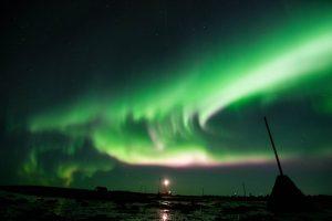 Northern Lights Over Grotta Lighthouse
