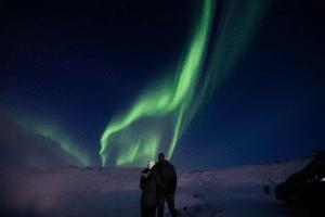 Northern Lights outside Myvatn nature baths