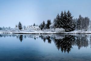 Thingvellir National Park in the snow