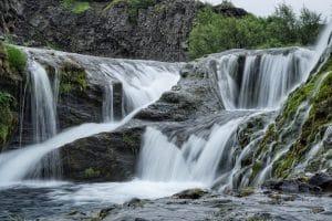 Gjain waterfall in Iceland