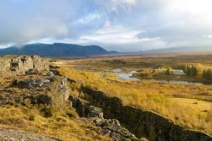 Thingvellir on a sunny day in Iceland's Golden Circle