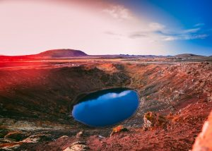Kerid crater in Icelands Golden Circle tourist route