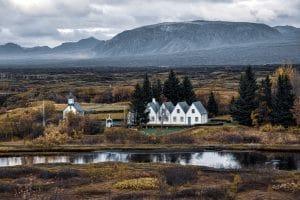 Þinvellir National Park on an overcast day