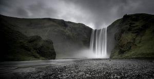 Skogafoss waterfall in Iceland's south coast