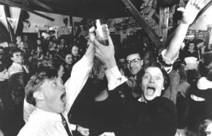 A group of Icelanders celebrating Beer Day