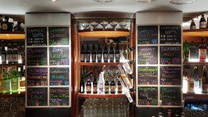 A full fridge of beer in Microbar in Reykjavik