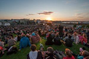 Menningarnott festival under the midnight sun
