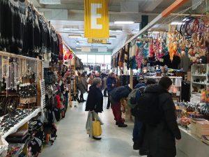 A busy Kolaportið flea market in Reykjavik