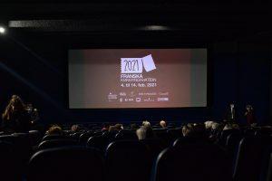 Bio Paradis cinema in Reykjavik showing a screening