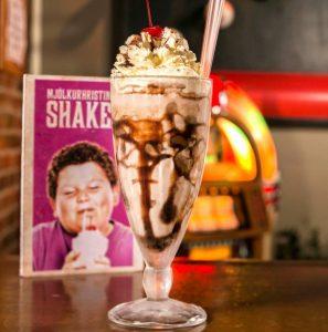 A milkshake in Lebowski bar in Iceland