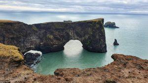 Dyrhólaey arch on Iceland's south coast